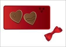 сердца шоколада красные Стоковое Изображение
