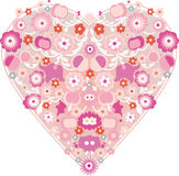 сердца элементов конструкции Стоковые Изображения RF