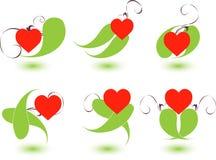 сердца элементов Стоковые Изображения RF