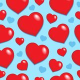 сердца 1 предпосылки безшовные Стоковая Фотография