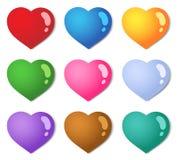 сердца 1 цвета собрания различные иллюстрация штока