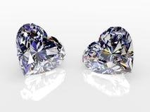 сердца 2 диаманта Стоковые Изображения RF