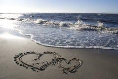 сердца 2 пляжа Стоковые Фото