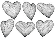 сердца 3d представили вектор иллюстрация штока
