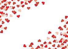 сердца confetti Стоковая Фотография