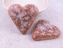 сердца gingerbread Стоковые Изображения RF
