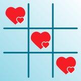 сердца gomoku Стоковое фото RF