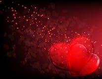 Сердца Valentines и мистические искры бесплатная иллюстрация