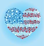 Сердце американского флага Стоковое Изображение RF