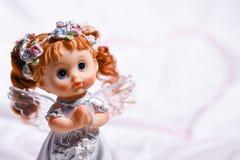 Сердце ангела влюбленности и счастья на St Valentine& x27; день s Стоковое Фото