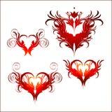 сердце богато украшенный Стоковые Изображения RF