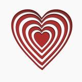 Сердце бумаги Валентайн Стоковые Изображения