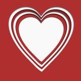 Сердце бумаги Валентайн Стоковая Фотография