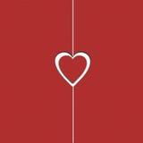 Сердце бумаги Валентайн Стоковое Фото