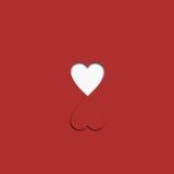 Сердце бумаги Валентайн Стоковое фото RF