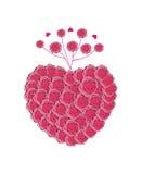 Сердце вектора роз Стоковое Изображение RF