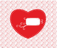 Сердце вектора роз Стоковая Фотография