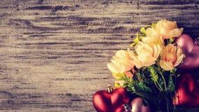 Сердце взгляд сверху красное розовое Стоковые Фотографии RF