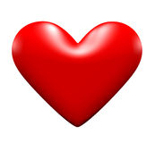 сердце влюбленности 3d Стоковое Изображение