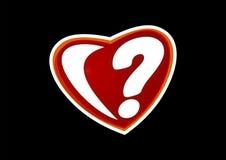 Сердце в вопросе стоковое изображение rf