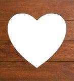 Сердце в древесине Стоковая Фотография