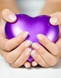 Сердце в руках стоковое изображение rf