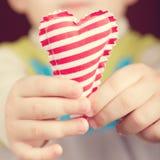 Сердце в руке Стоковая Фотография