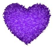 Сердце в триангулярном дизайне Стоковые Фотографии RF