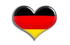 сердце Германии глянцеватое Стоковое Изображение RF