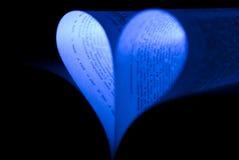 сердце голубой книги Стоковые Фото