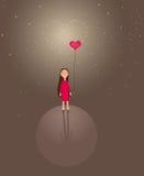 сердце девушки немногая иллюстрация штока