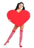 сердце девушки Стоковые Фотографии RF