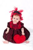 сердце девушки Стоковые Фото