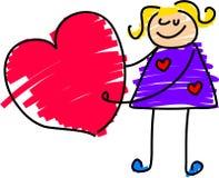 сердце девушки иллюстрация вектора