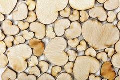 Сердце, деревянное, предпосылка, день, украшение, влюбленность, символ, древесина, подарок, красный цвет, романс, романтичное, ко Стоковая Фотография RF