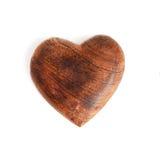 сердце деревянное Стоковая Фотография