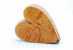 сердце деревянное Стоковое Изображение RF