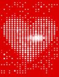 сердце дисплея предпосылки Стоковое Изображение RF