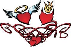 сердце дня к valentin Стоковые Изображения
