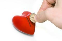 сердце доллара стоковая фотография