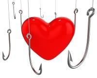 сердце задвижки закрепляет много красный цвет к пробовать Бесплатная Иллюстрация