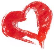 сердце замучило красную белизну Стоковая Фотография RF