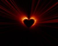 сердце затмения Стоковая Фотография