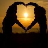 Сердце захода солнца стоковое фото rf
