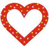 Сердце, звезды withh рамки Стоковое Изображение RF