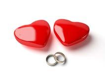сердце звенит венчание Стоковые Фото