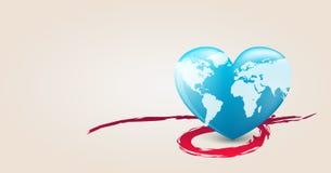 сердце земли иллюстрация штока