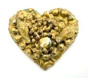 сердце золота коллажа Стоковое Фото