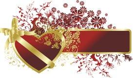 сердце золота рамки Стоковое Изображение RF