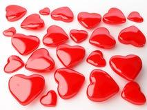 сердце изолировало много красный цвет Стоковые Фото